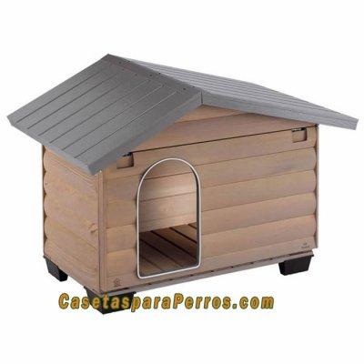 Caseta madera canada tienda de productos vida de campo for Casetas para perros aki
