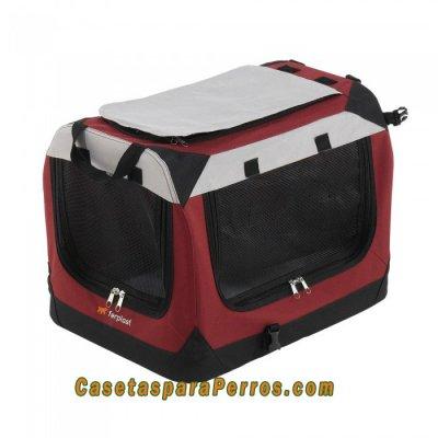 Caseta/transportín plegable para perros y gatos